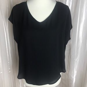 Lush Black Chiffon Top